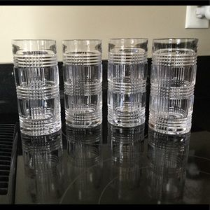 Set of 4 Ralph Lauren Glenplaid Highball Glasses